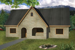 Dream House Plan - Cottage Exterior - Front Elevation Plan #1061-10