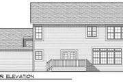 Traditional Style House Plan - 4 Beds 2.5 Baths 2100 Sq/Ft Plan #70-684 Exterior - Rear Elevation