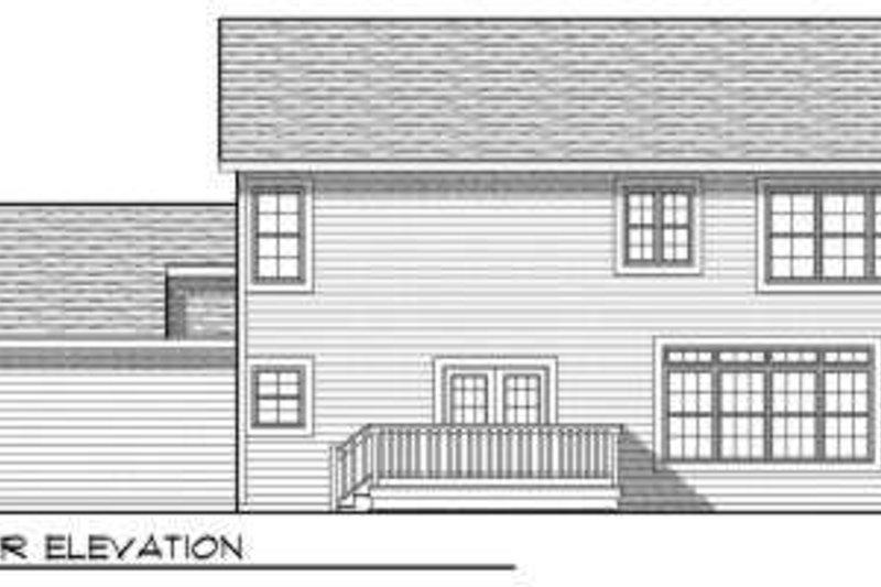 Traditional Exterior - Rear Elevation Plan #70-684 - Houseplans.com