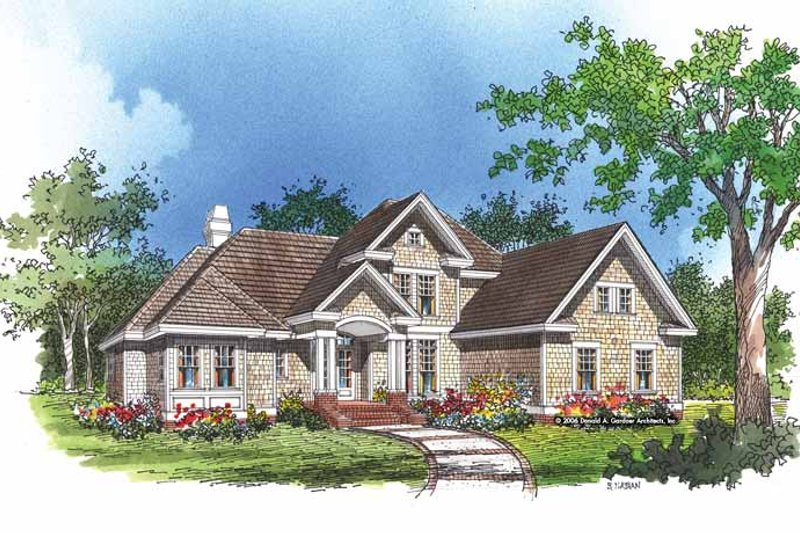 Traditional Exterior - Front Elevation Plan #929-250 - Houseplans.com