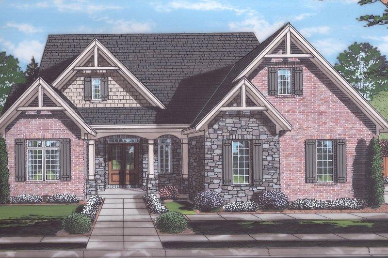 Architectural House Design - Craftsman Exterior - Front Elevation Plan #46-904