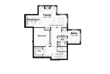 Prairie Floor Plan - Lower Floor Plan Plan #928-248