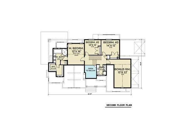 Dream House Plan - Cottage Floor Plan - Upper Floor Plan #1070-107