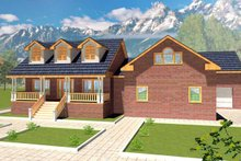 House Plan Design - Country Exterior - Front Elevation Plan #117-819