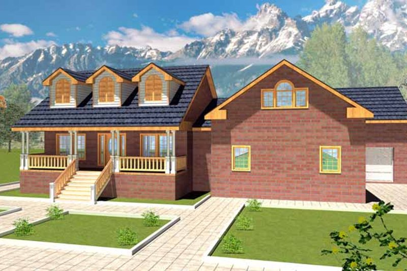 Country Exterior - Front Elevation Plan #117-819 - Houseplans.com