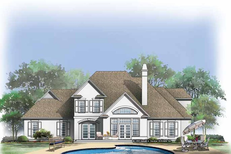 Country Exterior - Rear Elevation Plan #929-330