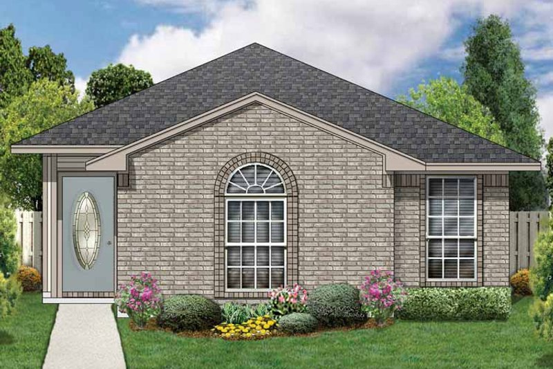 Traditional Exterior - Front Elevation Plan #84-671 - Houseplans.com