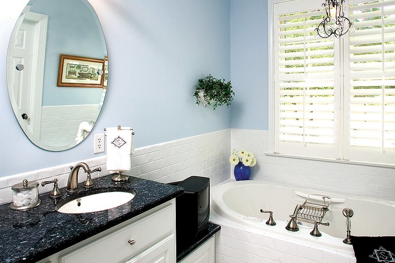 Country Interior - Master Bathroom Plan #929-9 - Houseplans.com