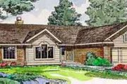 Ranch Style House Plan - 3 Beds 2 Baths 1332 Sq/Ft Plan #116-148 Exterior - Front Elevation