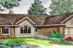 Ranch Exterior - Front Elevation Plan #116-148