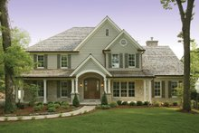 Architectural House Design - Country Exterior - Front Elevation Plan #57-628