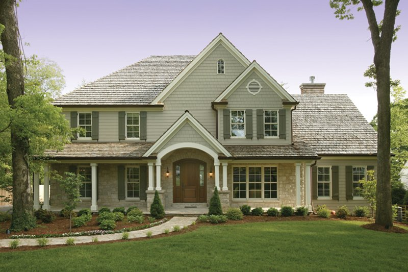 House Plan Design - Country Exterior - Front Elevation Plan #57-628