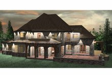 Architectural House Design - Country Exterior - Rear Elevation Plan #937-11
