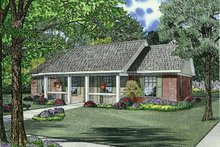 Country Exterior - Front Elevation Plan #17-2773
