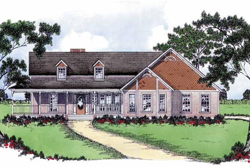 Country Exterior - Front Elevation Plan #36-590