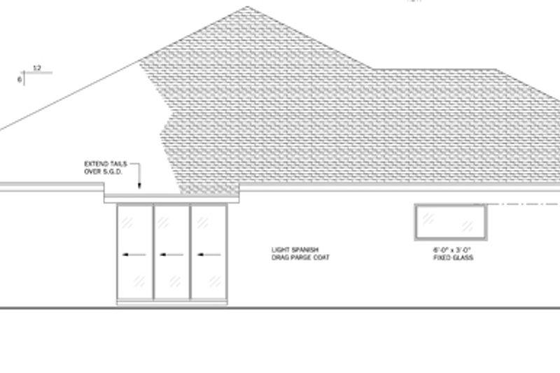 Mediterranean Exterior - Rear Elevation Plan #1058-43 - Houseplans.com