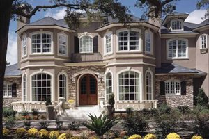 Mediterranean Exterior - Front Elevation Plan #417-557