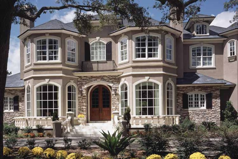 Home Plan - Mediterranean Exterior - Front Elevation Plan #417-557