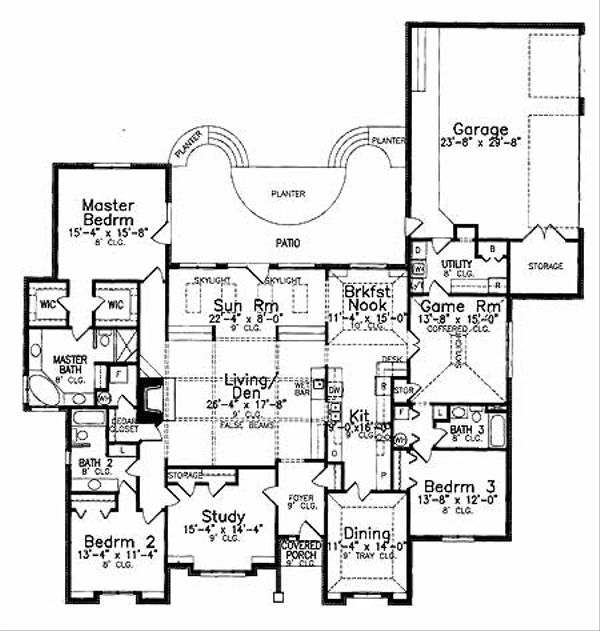 Country Floor Plan - Main Floor Plan Plan #52-287