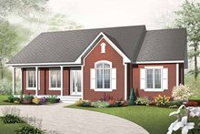 House Plan Design - Country Exterior - Front Elevation Plan #23-2499