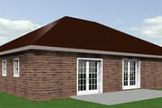 Southern Style House Plan - 3 Beds 2 Baths 1551 Sq/Ft Plan #44-136 Exterior - Rear Elevation