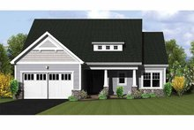 Architectural House Design - Ranch Exterior - Front Elevation Plan #1010-21