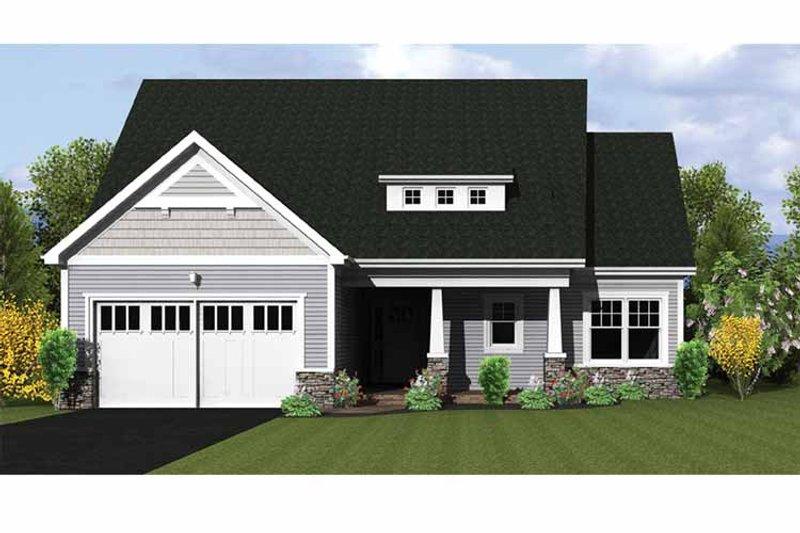 Ranch Exterior - Front Elevation Plan #1010-21 - Houseplans.com