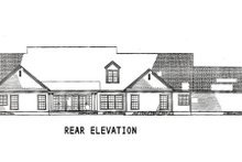 Dream House Plan - Ranch Exterior - Rear Elevation Plan #17-1166