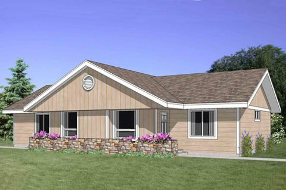 Ranch Exterior - Front Elevation Plan #116-287
