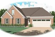 Southern Style House Plan - 3 Beds 2 Baths 1677 Sq/Ft Plan #81-219 Exterior - Front Elevation