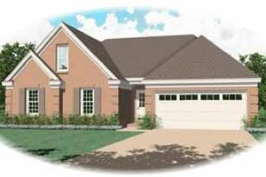 Southern Exterior - Front Elevation Plan #81-219