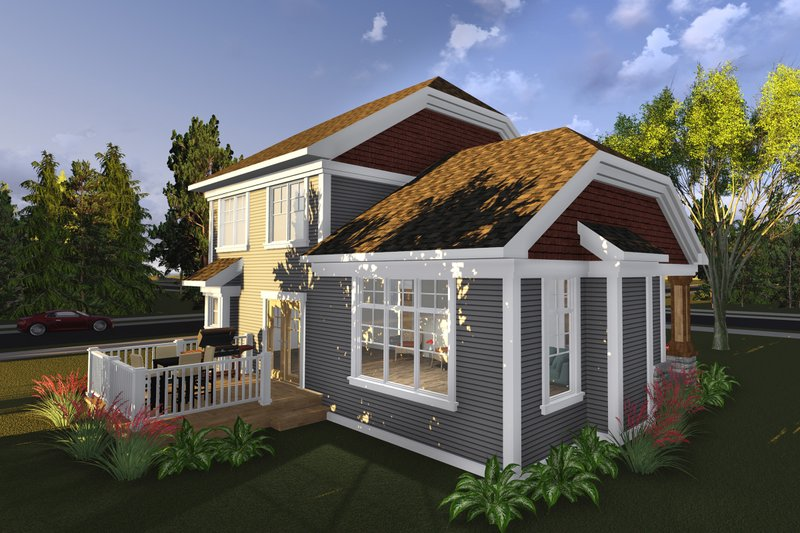 Exterior - Rear Elevation Plan #70-1236 - Houseplans.com