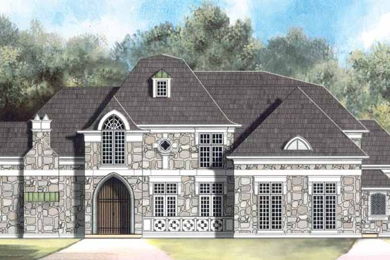 Country Exterior - Front Elevation Plan #119-401