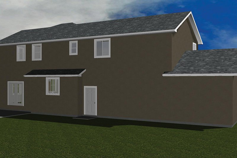 Traditional Exterior - Rear Elevation Plan #1060-32 - Houseplans.com