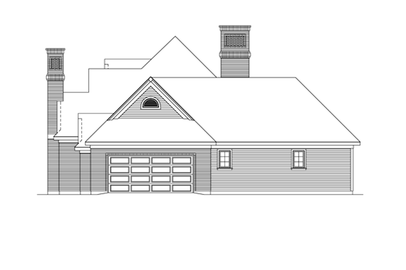 Ranch Exterior - Other Elevation Plan #57-627 - Houseplans.com
