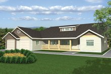 Ranch Exterior - Front Elevation Plan #117-851