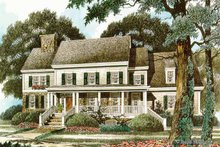 Country Exterior - Front Elevation Plan #429-342