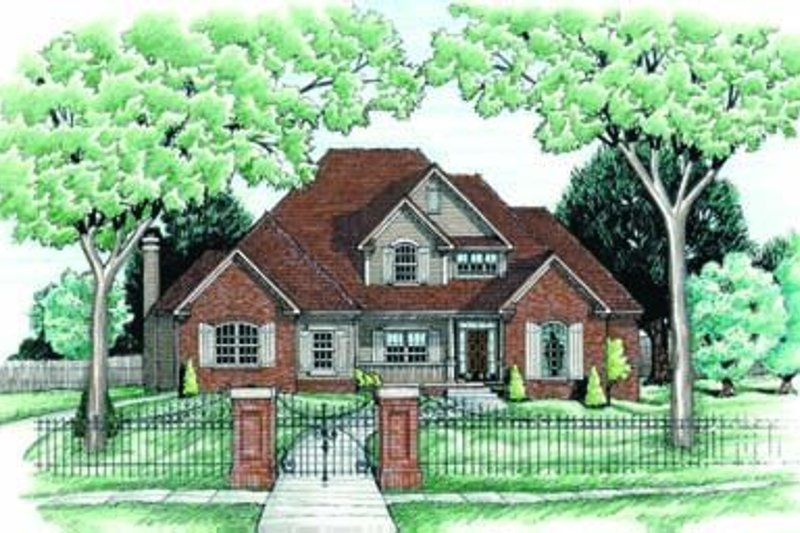 Traditional Exterior - Front Elevation Plan #20-1068