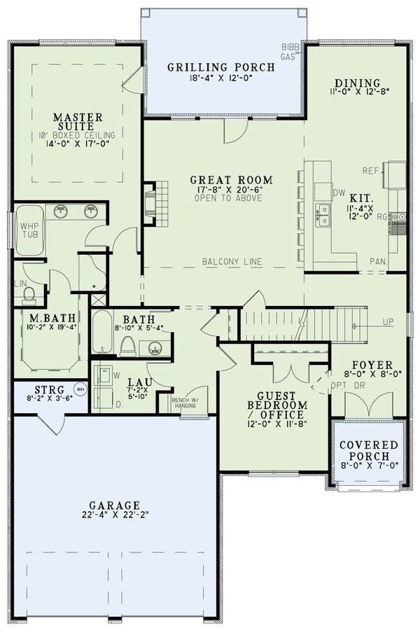 Tudor Floor Plan - Main Floor Plan Plan #17-2494