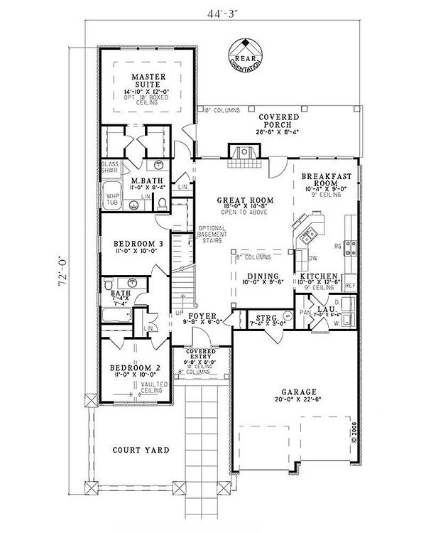 House Design - European Floor Plan - Main Floor Plan #17-122