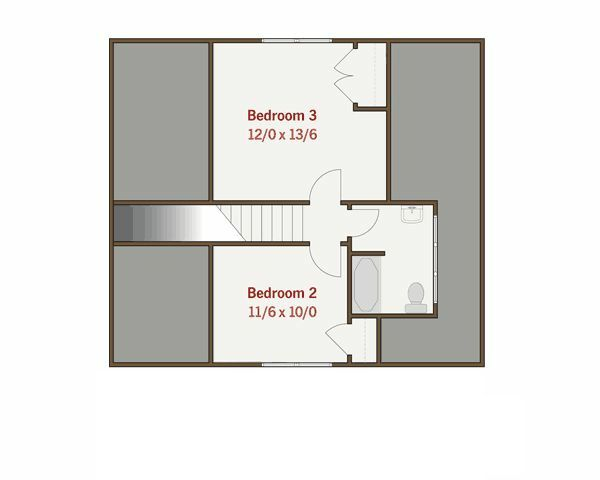 Craftsman Floor Plan - Upper Floor Plan Plan #461-17