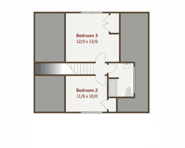 Craftsman Floor Plan - Upper Floor Plan #461-17