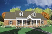 Traditional Style House Plan - 4 Beds 2 Baths 2393 Sq/Ft Plan #36-209 Exterior - Front Elevation