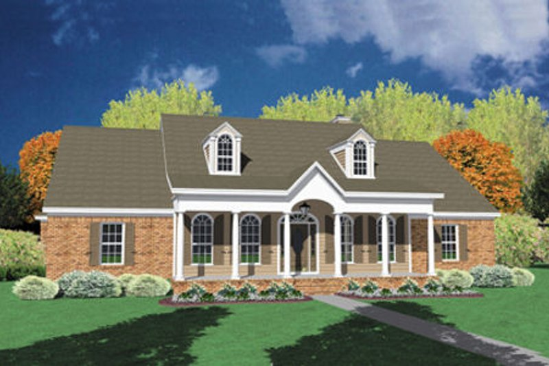Traditional Exterior - Front Elevation Plan #36-209 - Houseplans.com