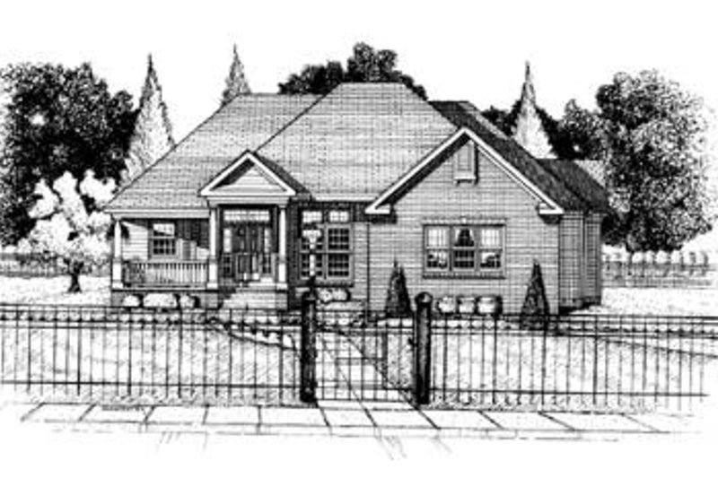 Traditional Exterior - Front Elevation Plan #20-635 - Houseplans.com