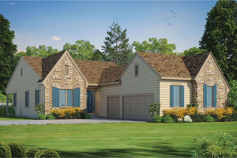 Ranch Exterior - Front Elevation Plan #20-2285