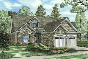 European Exterior - Front Elevation Plan #17-2267