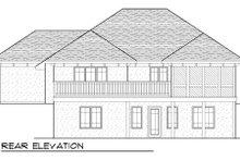 Dream House Plan - European Exterior - Rear Elevation Plan #70-988