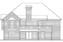 Southern Exterior - Rear Elevation Plan #48-416