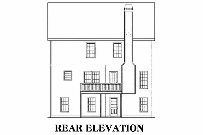 Traditional Exterior - Rear Elevation Plan #419-176 - Houseplans.com